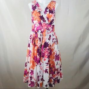 Aryeh floral fit and flare midi sun dress